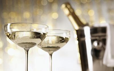 skleničky šampaňského