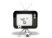 Altes TV-Gerät aus dem Lotto-Kugeln purzeln