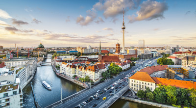Panorama-Aufnahme der Bundeshauptstadt Berlin